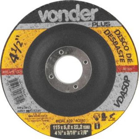 Disco de desbaste 115 mm x 5,0 mm x 22,23 mm VDA50P