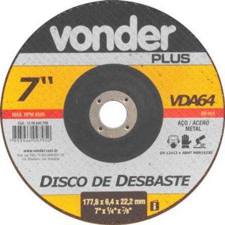 Disco de desbaste 180 mm x 6,4 mm x 22,23 mm VDA64