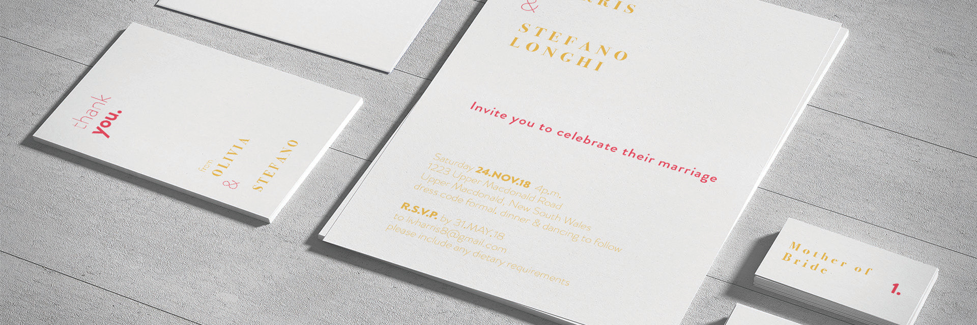 The Longhi's Wedding Invitations