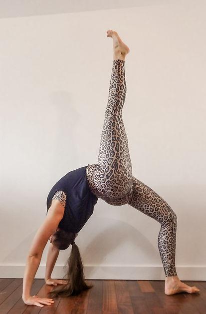 Anysa 1 leg wheel yoga on demand library