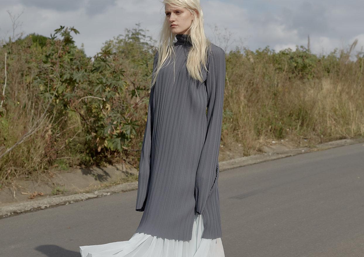 fashion editorial for iMute magazine with Cecilie Heide Carlo Fernandes Kelly Bowman Darron Summors stylist Goldfox Creative