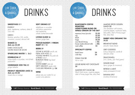 graphic design | print menu
