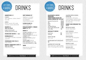graphic design   print menu