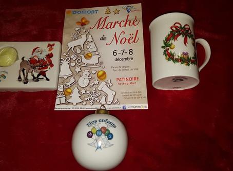 Vente au marché de Noël de Domont