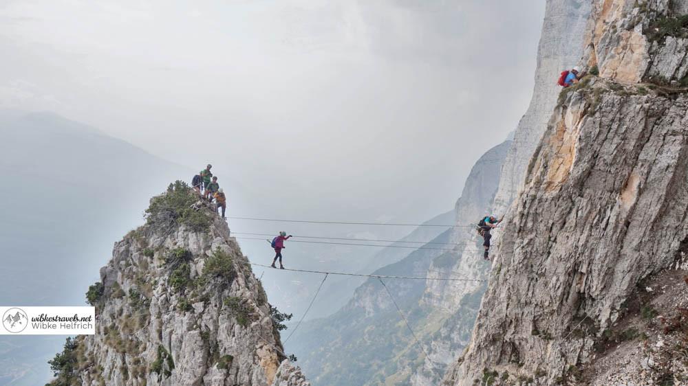 Der Klettersteig Via Ferrata delle Aquile bietet tolle Fotomöglichkeiten