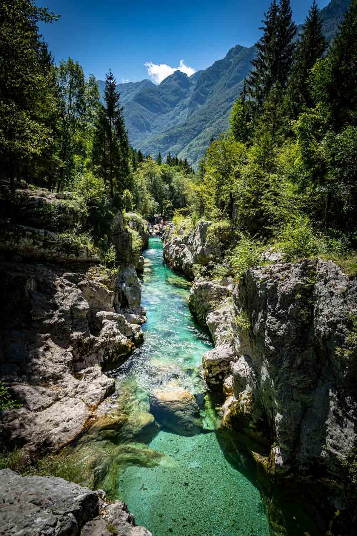 Wandern im Soča Tal in Slowenien