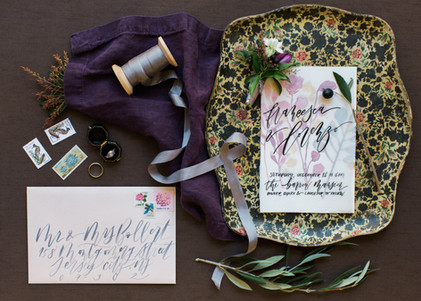 Romantic Purple-Hued Vintage Shoot