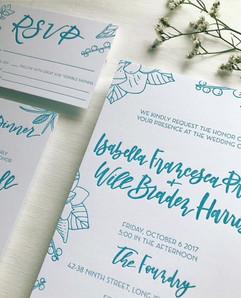 Letterpress Florals