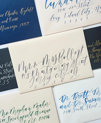 blue watercolor invites