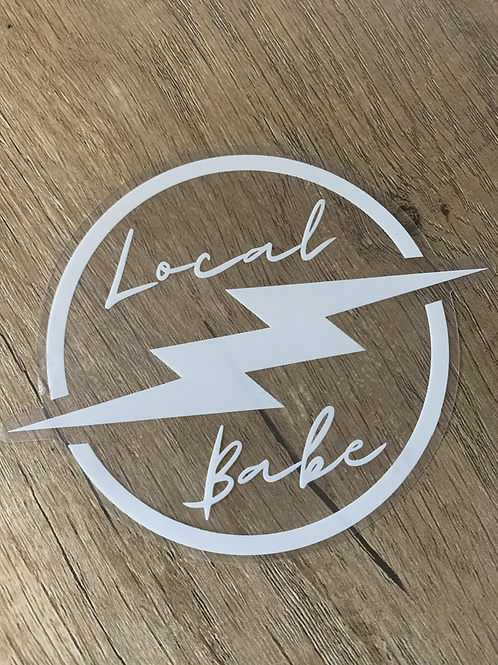 Local Babe Bolt Decal