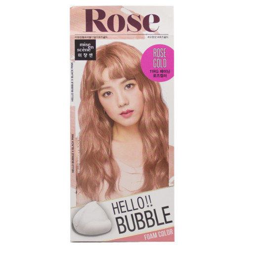 "Краска для волос Mise en scene ""Hello Bubble"" Rose gold"