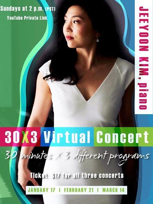 30x3 Virtual Concert