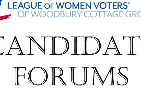 Candidate Forums in September