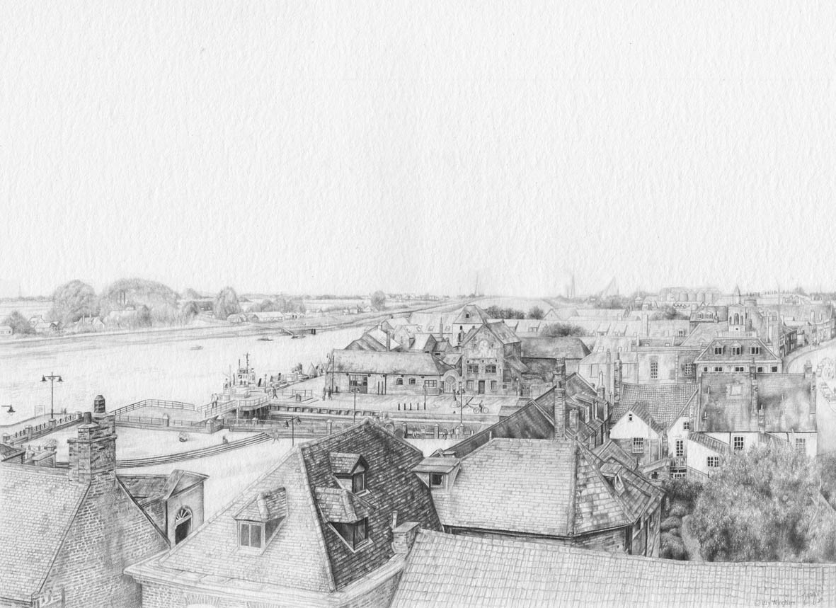 King's Lynn rooftop view