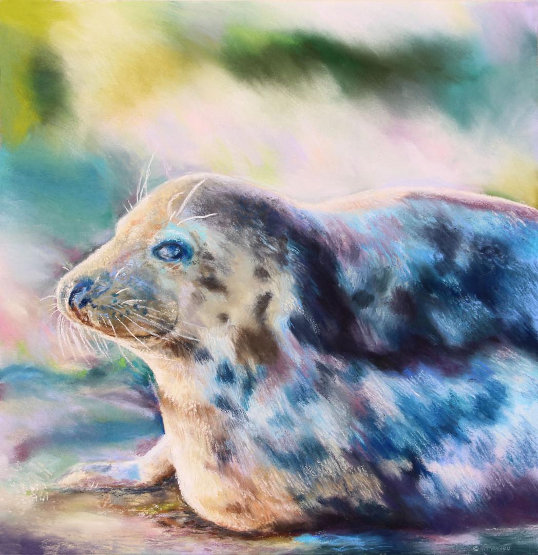 Green blue seal