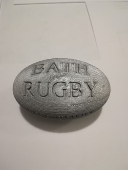 Bath Rugby ball designed by a local designing business