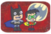 A cute dark take on Batman and Robin