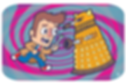 Doctor Who battles a Dalek