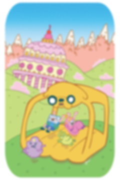 Adventure Time Comics 15 cover Jake bounce house