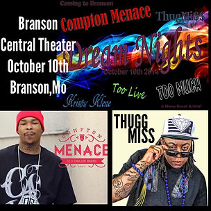 Compton Menace and ThuggMiss Performance flyer