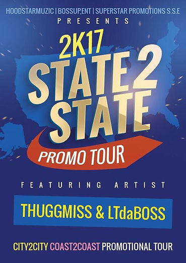 ThuggMiss state2state promo flyer