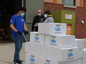 Life Distributes Food Baskets to the Local Community