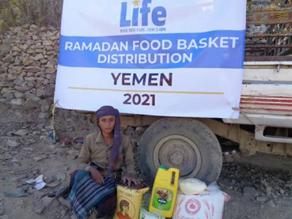 Life Distributes Ramadan Food Baskets in Yemen