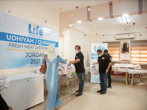 LIFE Distributes Udhiyah Meat in Jordan