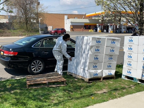 Life Distributes Food Boxes to the Local Community in Detroit, MI