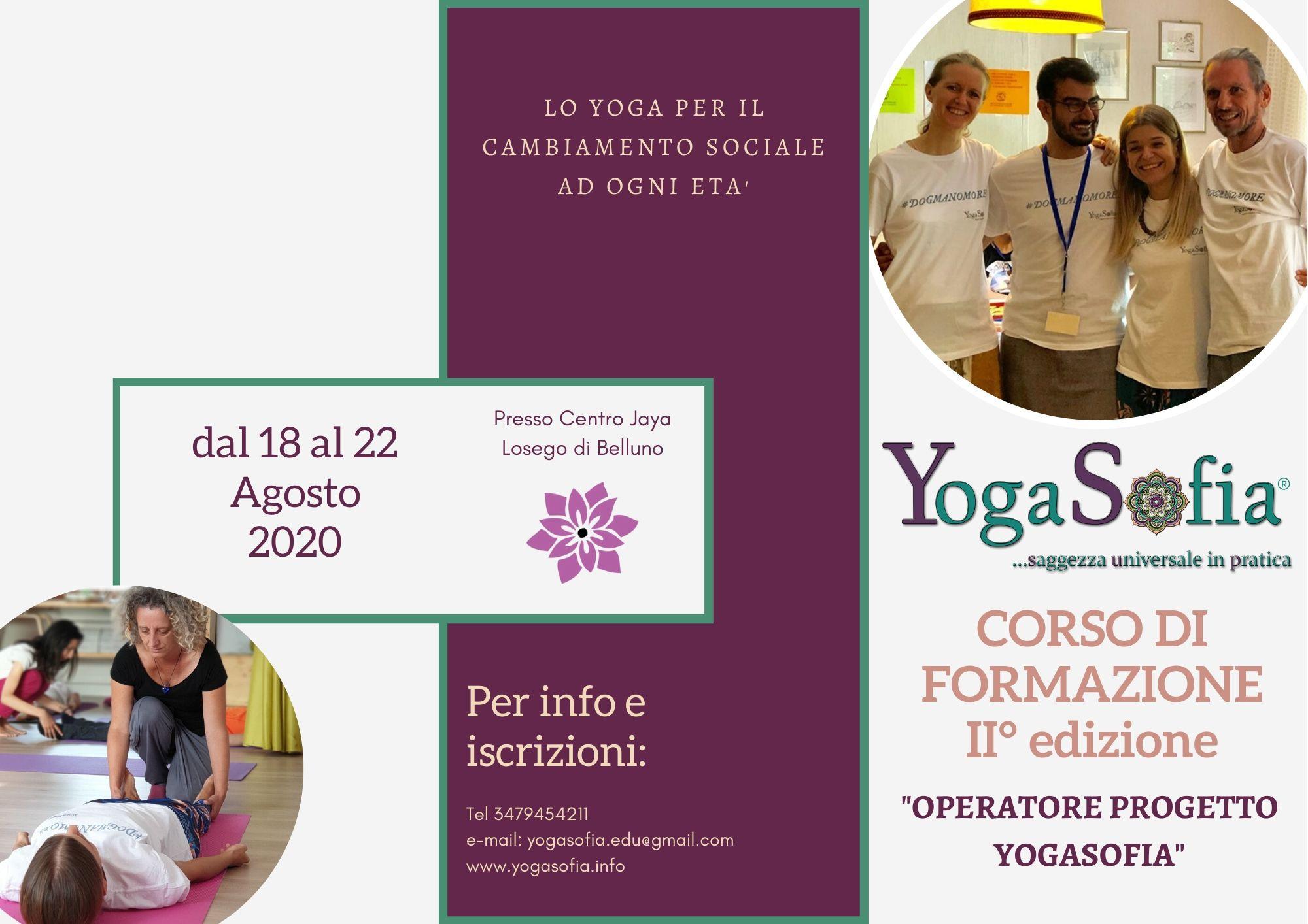 Formazione Operatore Progetto Yogasofia