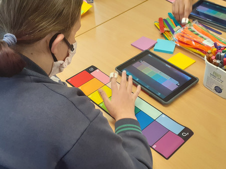 Augmented reality and turning colour into sound!