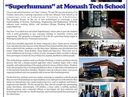 Wellington Secondary College 'Superhumans' Experience