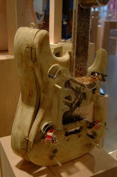 Guitar Bird Feeder