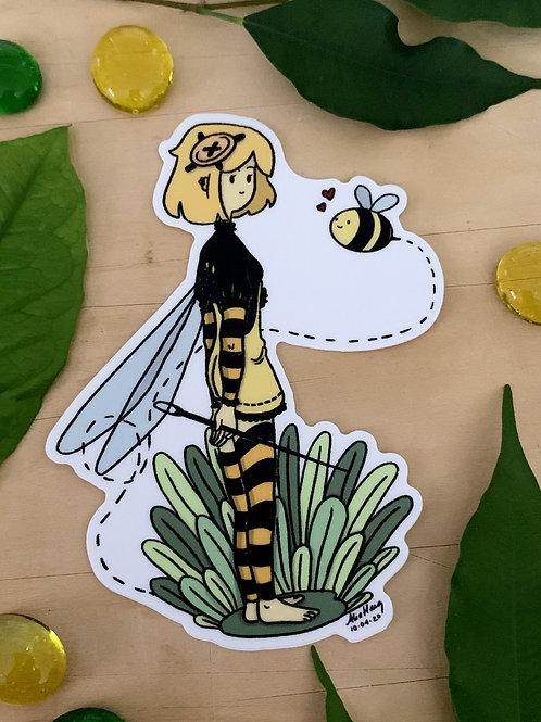 Bee Fairy Sticker