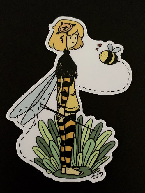 Bee Fairy - Solid White Background