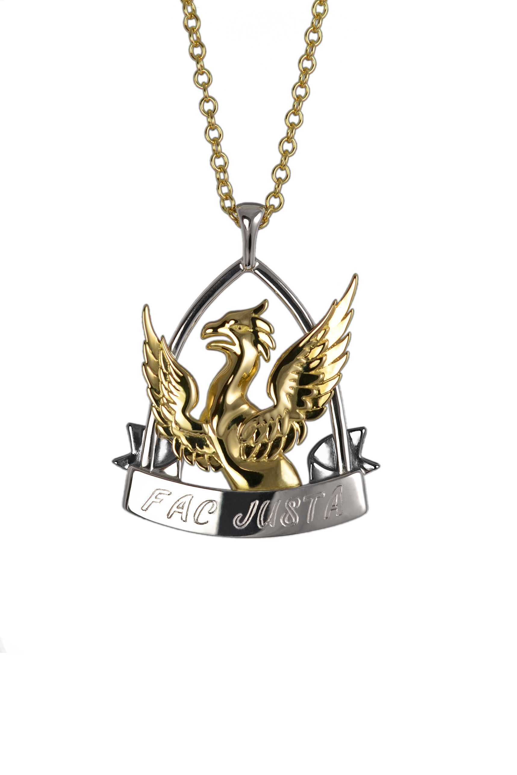 Family crest commission pendant