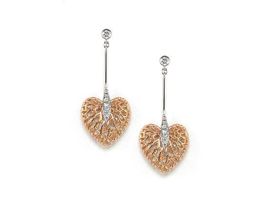Eternal Heart Drop Earrings