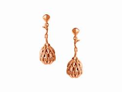 Rose gold Fircone earrings
