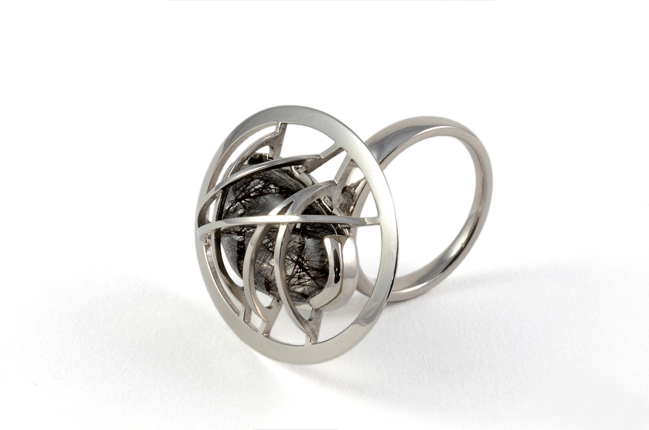 Palladium cocktail ring