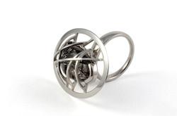 Palladium cocktail ring