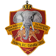 The Shikar Safari Club International logo stating The Fairmont Empress Hotel Canada, red shield with crown, Elephant & Tiger.