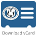 vCard Contact Us details icon, dark blue image with the Sybarite Sporting black logo - sustainable ecotourism travel office.