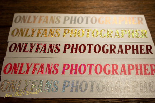 Onlyfans Photographer Decal