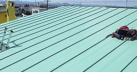 屋根修理 平成ルーフ施工(二重折)