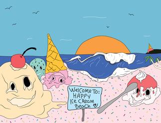 Welcome to Happy Icecream Beach.