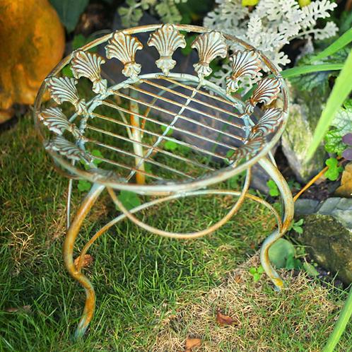 Iron planter stand