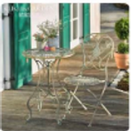 iron table and chair set