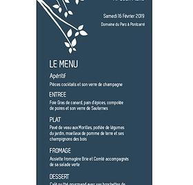 Création d'un menu