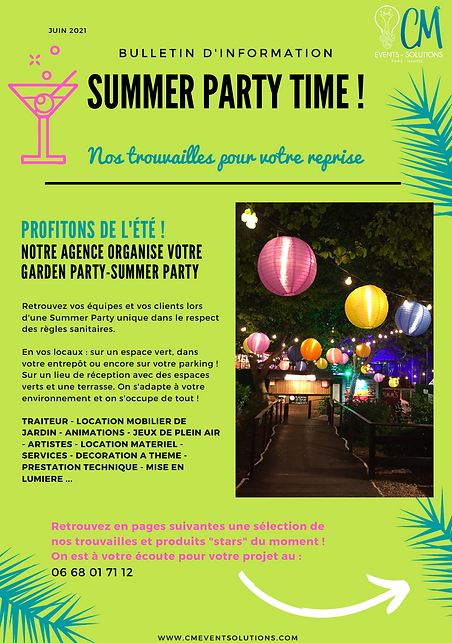 Summer party   CM EVENTS SOLUTIONS