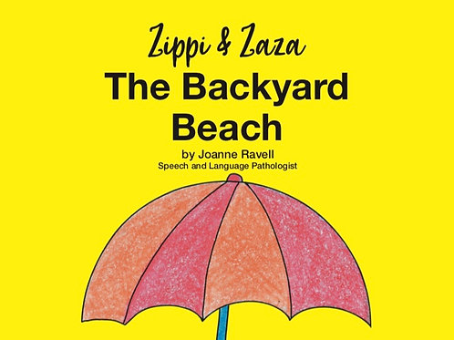 ZIPPI AND ZAZA THE BACKYARD BEACH AUDIO SENSORY STORY